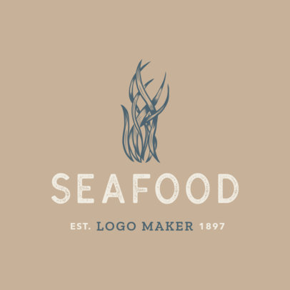Simple Seafood Logo Maker 1797e