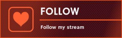 Follow Twitch Panel Maker with Minimalist Design 1109c