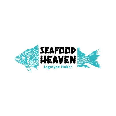 Seafood Logo Maker with a Minimalistic Design 1800