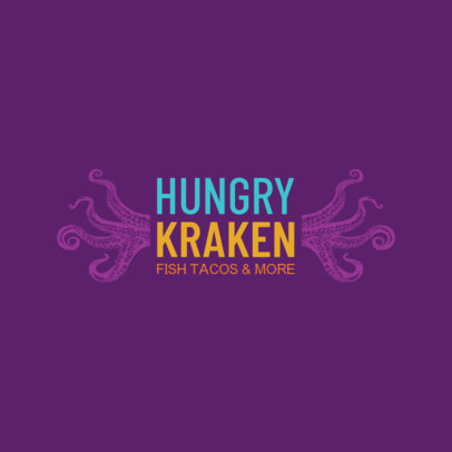Tentacle Themed Logo Generator for a Seafood Restaurant 1800b
