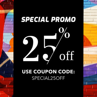 Coupon Design Template for Special Store Promos 1019a