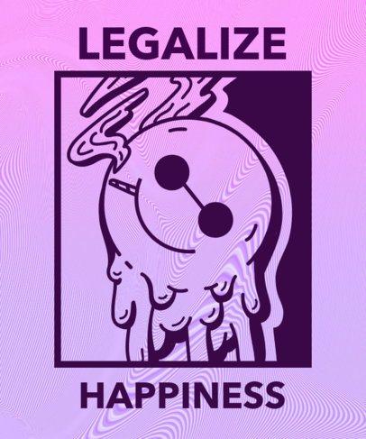 T-Shirt Design Template with a Marijuana Legalization Message 1061a