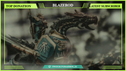 Twitch Overlay Template With Green Hues 1071b