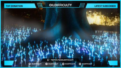 Custom Twitch Overlay Maker With Blue Neon Hues 1071d