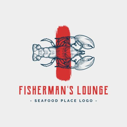 Logo Maker for a Seafood Restaurant with Lobster Graphics 1798d