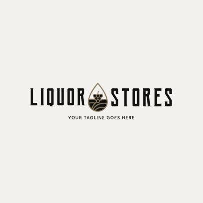 Simple Liquor Store Logo Design Template 1812