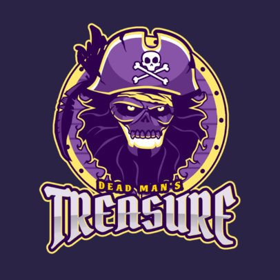 Gaming Logo Design Template with Pirate Graphics 1749c