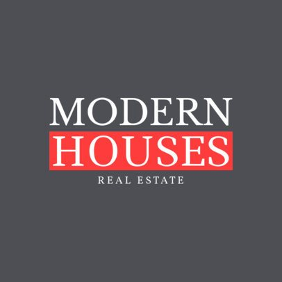 Logo Design Generator For a Modern Real Estate Agency 1348c