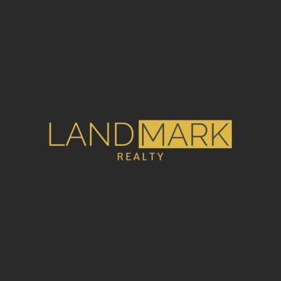 Professional Logo Design Maker For a Real Estate Agency 1348d