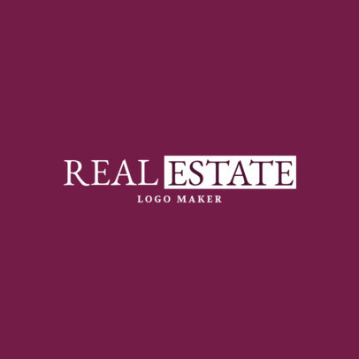 Elegant Real Estate Business Logo Design Maker 1348e