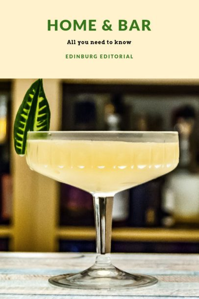 Simple Book Cover Template with a Cocktail Background 919d