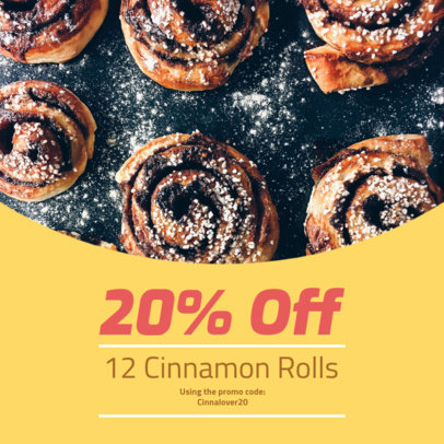 Coupon Design Maker for a Cinnamon Roll Promotion Coupon 1009e
