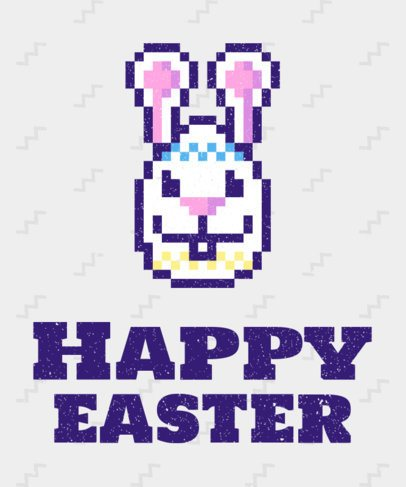 Easter Tee Design Maker with Pixelated Graphics 28f