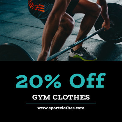 Gym Clothing Coupon Design Template 1011b