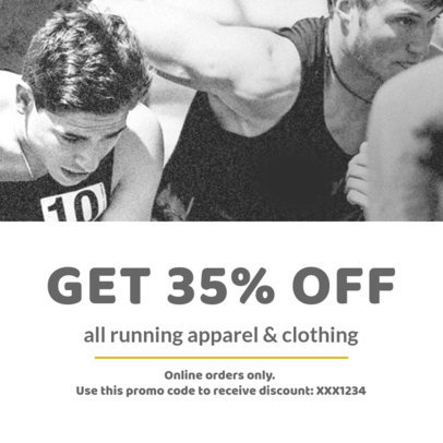 Coupon Design Template for a Running Clothing Coupon 1011c