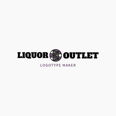 Liquor Store Logo Generator for a Wine Shop Logo 1812d
