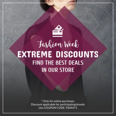 Coupon Design Template for a Fashion Store Discount Coupon 1024c