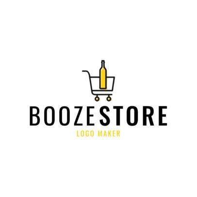 Liquor Store Logo Maker with Simple Booze Clipart 1814