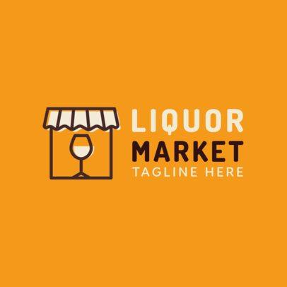 Logo Generator Featuring a Liquor Store Icon 1814b