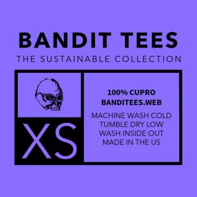 T-Shirt Label Design Template 1133