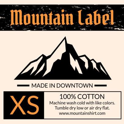 T-Shirt Label Design Maker for Outdoor Clothing Brands 1147