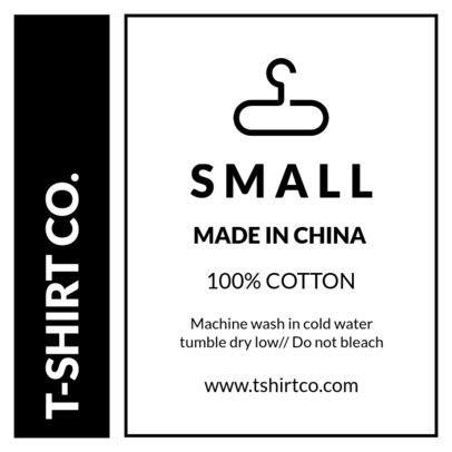 T-Shirt Tag Design Template 1145