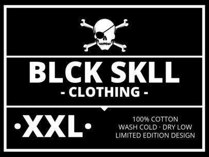 T-Shirt Label Design for Punk Clothing Brands 1144