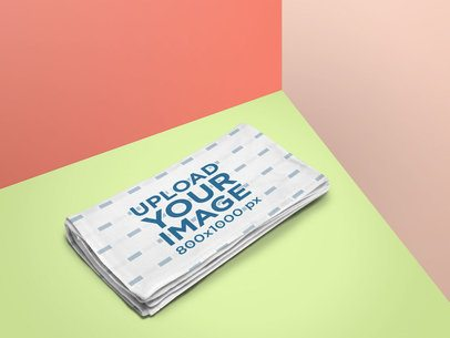 Folded Blanket Mockup With a Colorful Scenario 25192