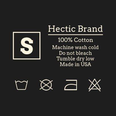 Clothing Label Design Maker for Apparel Brands 1138