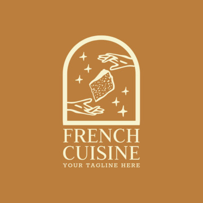 Restaurant Logo Maker with French Cheese Clipart 1810b