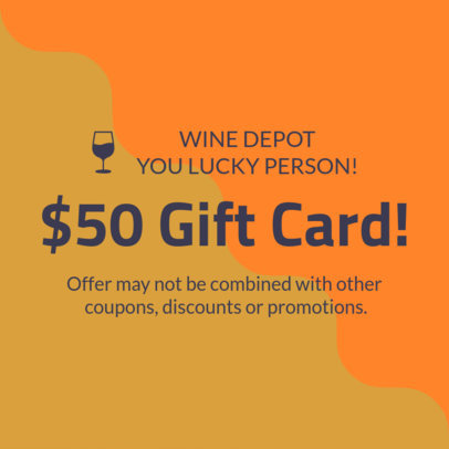 Design Template for a Wine Store Gift Card 1034d