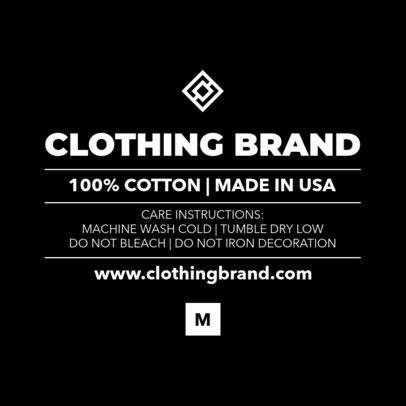 Inside Tag Template for Clothing Brands 1136