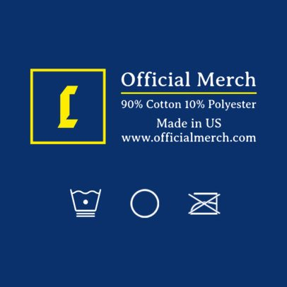 Official Merch T-Shirt Label Design Maker 1138a