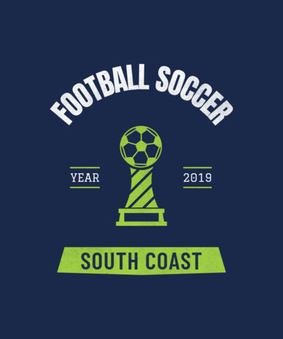 Soccer Team T-Shirt Design Generator 484i