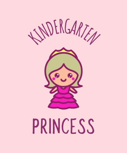 Kindergarten Teacher T-Shirt Design Template 37g
