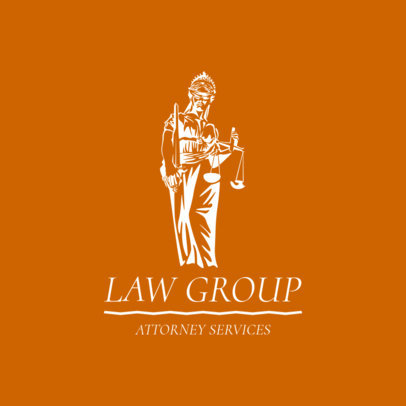 Lawyer Logo Maker for an Attorney Services Association 1851b