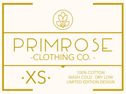 Girly Clothing Label Design Template 1137a