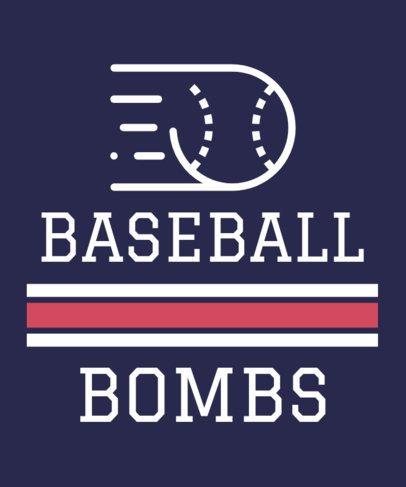 T-Shirt Design Maker for Baseball Players 1191f