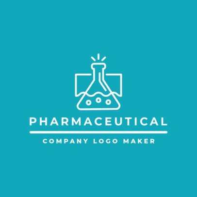 Pharmaceutical Company Logo Maker with Laboratory Clipart 1856
