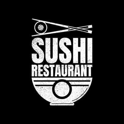 Modern Logo Maker for a Sushi Restaurant 1821
