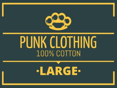 Edgy Clothing Brand Label Design Template 1144b