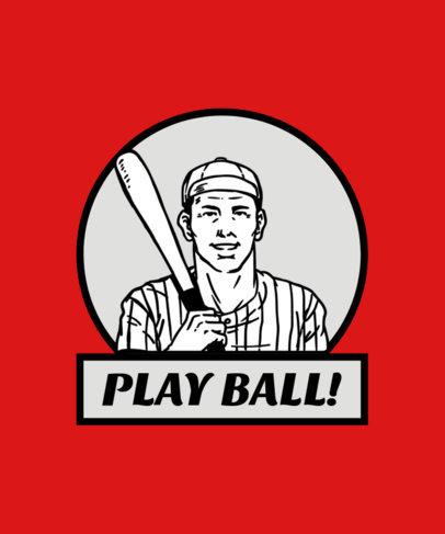 Retro Baseball Tee Design Maker 13g