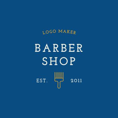 Classic Barbershop Logo Design Template 1471d