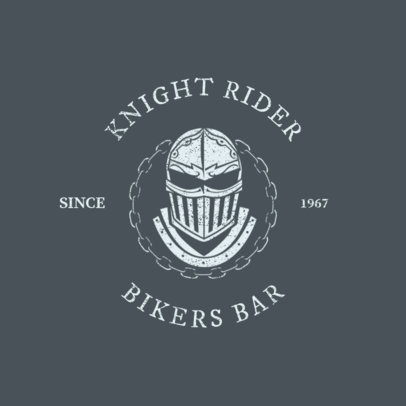 Biker Bar Logo Maker with Tough Art Elements 1765c