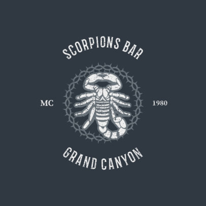 Biker Bar Logo Generator Featuring a Scorpion 1765e