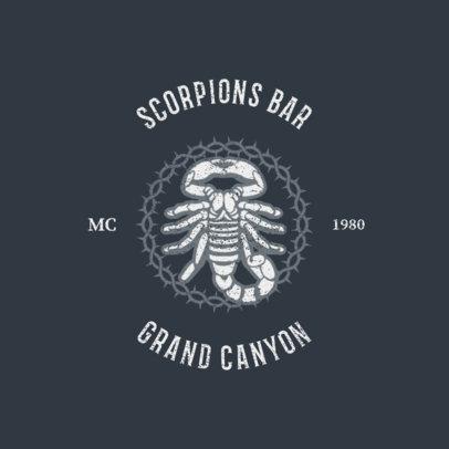 Biker Bar Logo Generator Featuring a Scorpion 1765e