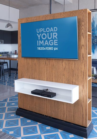 Smart TV Mockup Featuring an Avant-Garde Department 25840