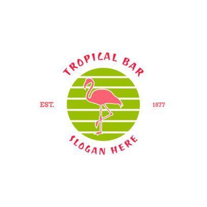 Tropical Bar Logo Maker 1758b
