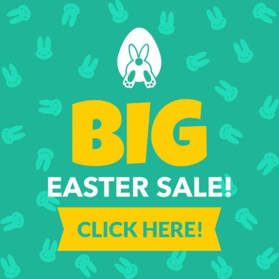 Easter Banner Maker with Bunny Graphics 1048f
