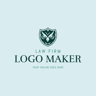 Law Firm Logo Maker with a Wise Owl Icon 1854a
